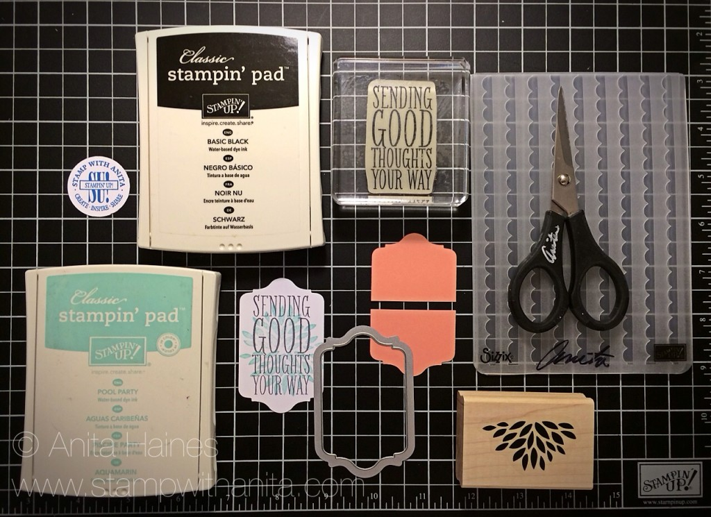 Scallop Tap Punch Card Closure Supplies www.stampwithanita.com