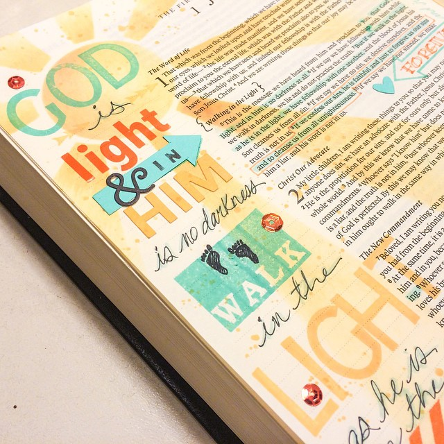 God Is Light_Bible Journaling_www.stampwithanita.com