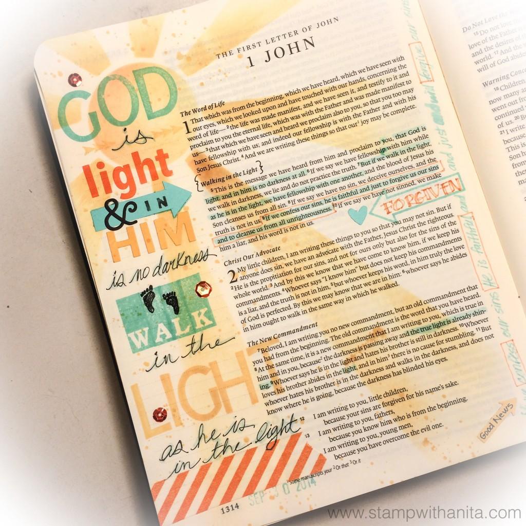God Is Light_BibleJournaling_www.stampwithanita.com