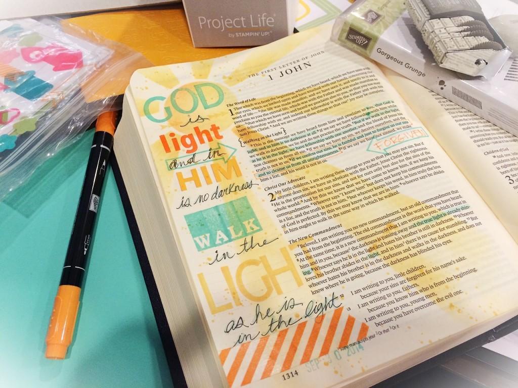 God Is Light_My Bible Journaling_www.stampwithanita.com