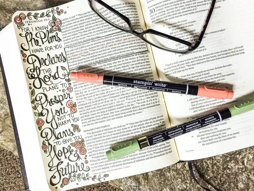 JER.29:11 Bible Journaling - www.stampwithanita.com