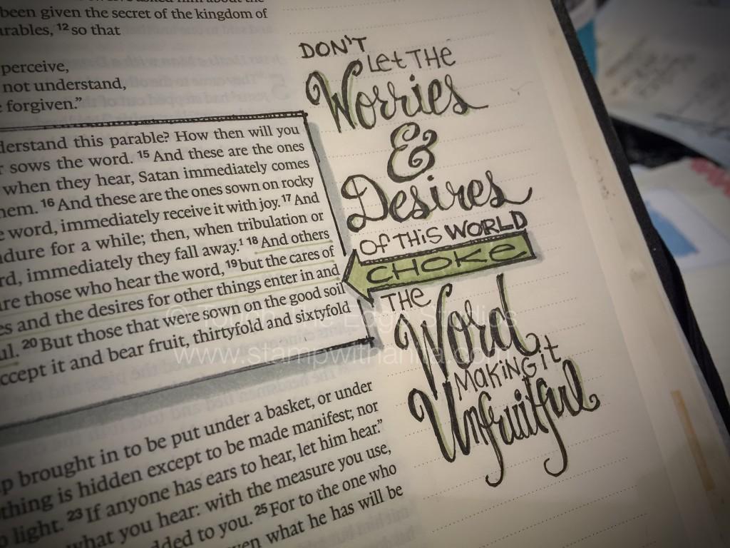 Worry Bible Journaling - www.stampwithanita.com