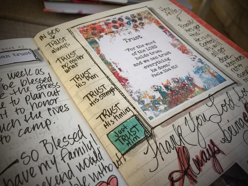 Trust - Documented Life - No Worries Bible Journaling- www.stampwithanita.com
