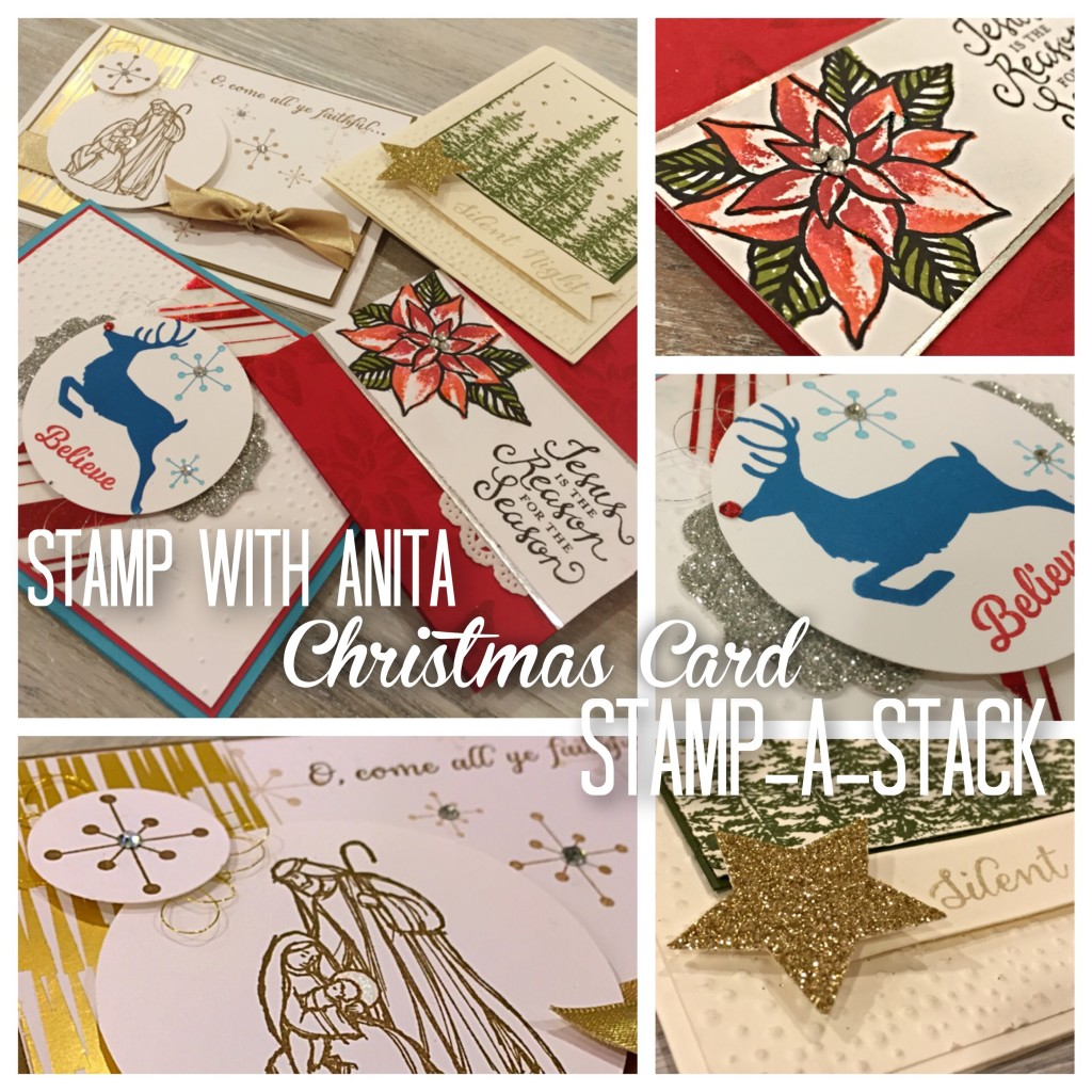 Christmas Card Stamp-A-Stack www.stampwithanita.com