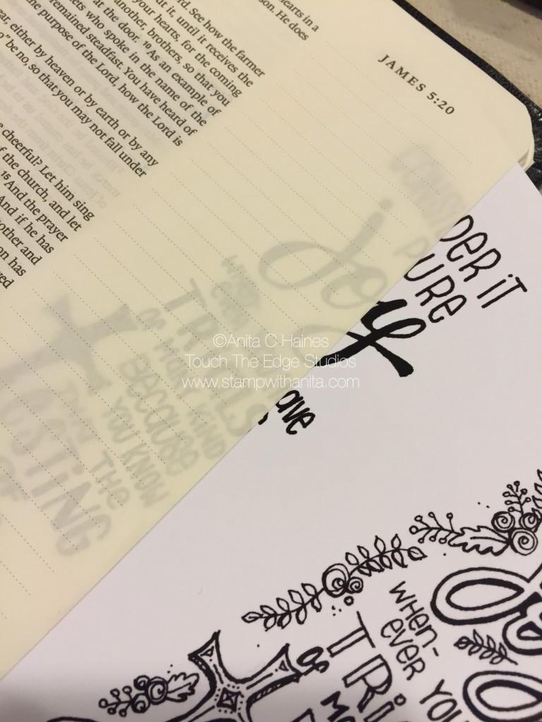 Bible Journaling Tracing.www.stampwithanita.com