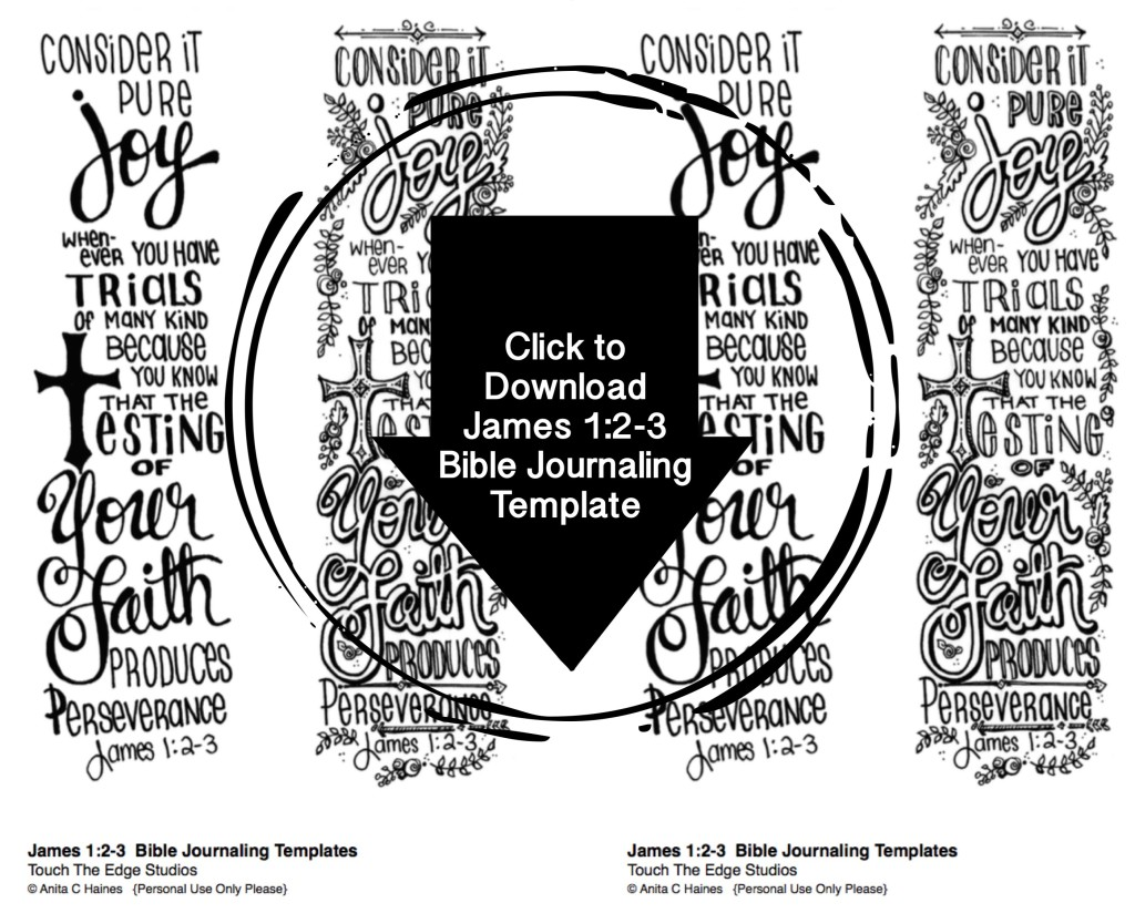 James 1:2-3 Bible Journaling Template_www.stampwithanita.com