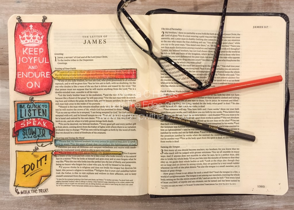 James1:22 Bible Journaling.www.stampwithanita.com