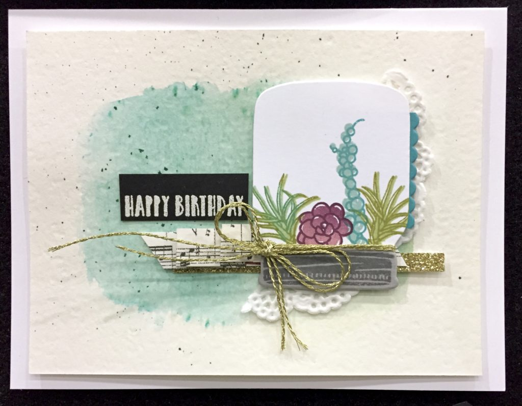 birthday card idea with succulent set