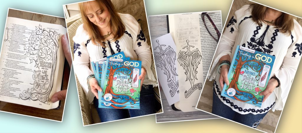 Bible Journaling Trusting in God by Anita C Haines