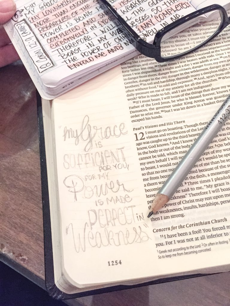 Sufficiant Grace Bible Journaling Anita C Haines