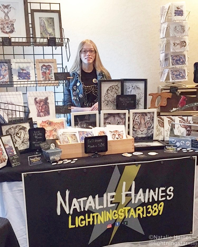 Natalie's First Solo Show -touchtheedgestudios.com